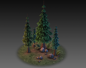 3D model Low Poly Forest Collection