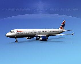 3D Airbus A321 British Airways