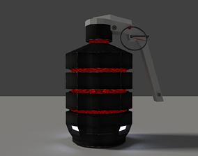 SCI-FI Grenade 3D asset
