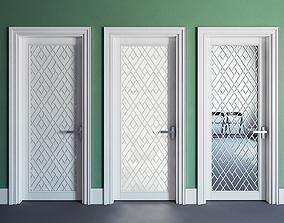 Modern interior door 3D