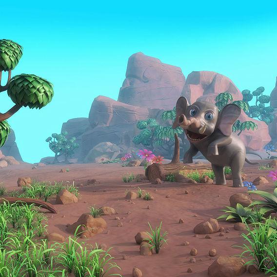 Cartoon elephant