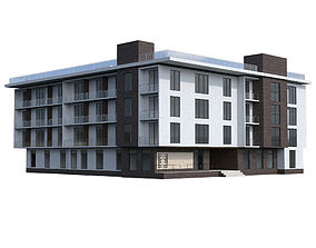 apartment Residential building 3D model