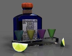 Tequila bottle 3D model