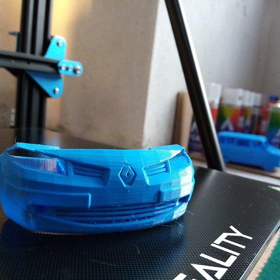 RENAULT MEGANE 2 FRONT BUMPER FREE PRINT MODEL Free 3D print model