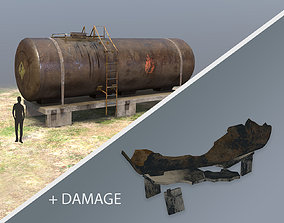 FuelTank 01 with Damage 3D asset