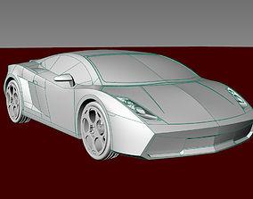 Car gallardo 2006 car toys 3d print 3dm