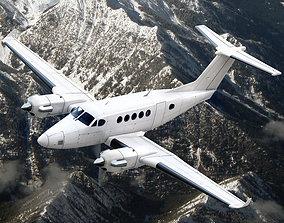 3D animated Beechcraft King Air 250