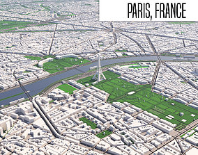 3D model map Paris