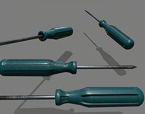 screwdriver industrial 3D model VR / AR ready