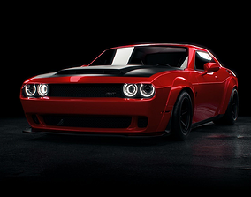 DODGE challenger demon srt 2018 3D model