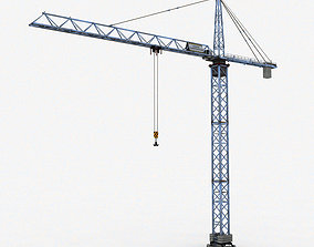 Tower Crane 3D model realtime