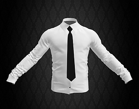 Shirt and Tie 3D asset low-poly