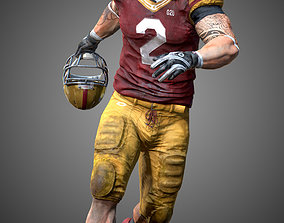 American Football Player- ANimated 3D model