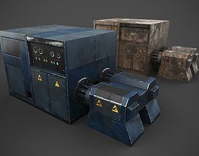3D asset low-poly Machinery device