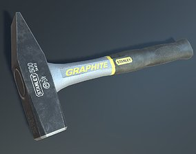 Hammer stanley graphite low-poly 3D model