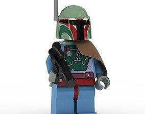 3D model LEGO Minfigure Boba Fett new