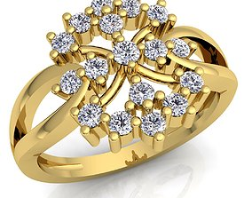 New Flower Diomand Ring 3d Model Print