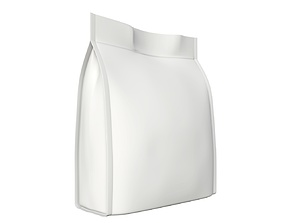Blank Pet Food Foil Pouch Bag Mock Up 03 3D model