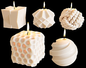 Set of decorative sculptural candles MAISONDEONGI 3D model