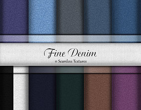 3D Essential Fine Denim Pack Fabrics Seamless Textures Set