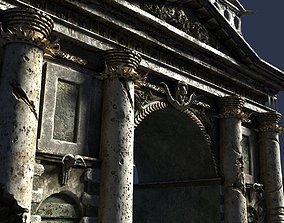 3D model triumphal gothic arch