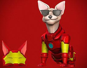 Iron man dog 3D print model
