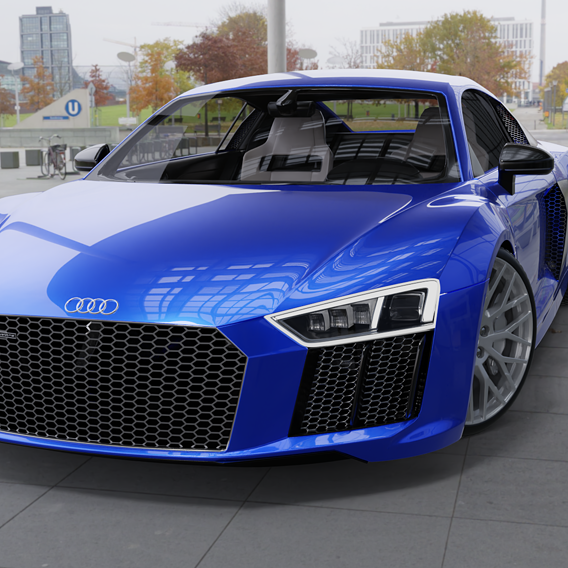 2016 Audi R8 V10 Plus Photorealistic render