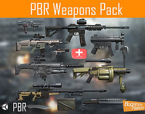 PBR Weapons pack 3D model game-ready