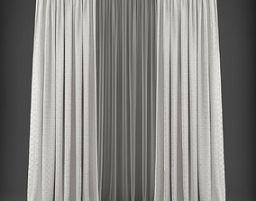 Curtain tulle 3D model realtime