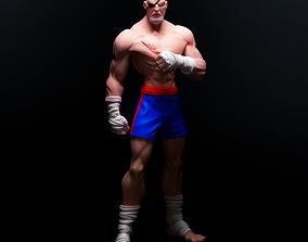 characterdesign Sagat - Street fighter - For 3D Printring