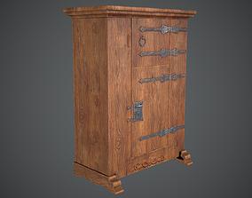 3D model Cupboard Medieval