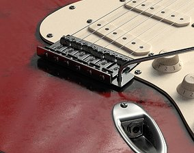 Electric guitar with high quality textures Fender 3D