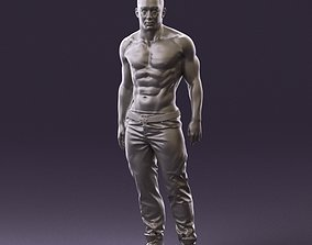 figurine Bodybuilder topless 0962 3D Print Ready