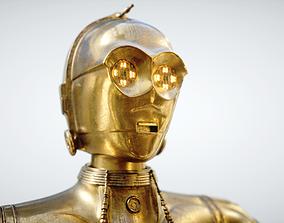 Robot C3PO 3D animated