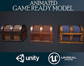 Chests collection 3D asset