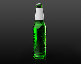 Carlsberg glass bottle 3D model