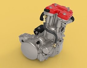3D HUSQVARNA SM 630 TE 630 ENGINE MOTORCYCLES