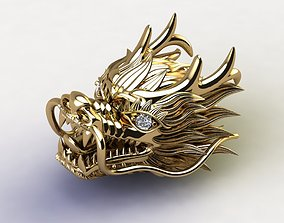 Head Dragon China dragon with cad file 3dm and STL