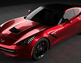 Chevrolet Corvette Stingray C7 racing 3D model