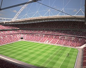 3D model Wembley Stadium London at Day and Night