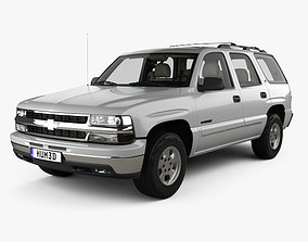 3D model Chevrolet Tahoe LS with HQ interior 2002