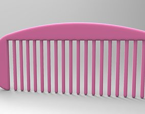3D printable model hair comb
