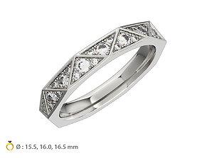 3D printable model N122 Geometric style Diamond Ring