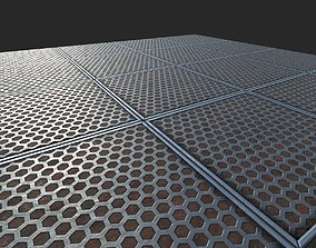 Sci-fi Metal Panel Hexagon 3D