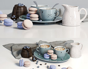 3D model Decorative set with dishes and