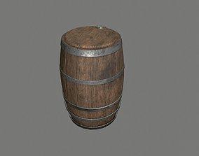 Low Poly Medeival Barrel 3D asset