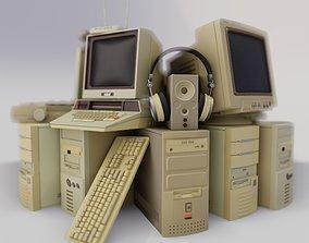 3D model Retro computers