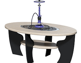 Hookah and table 3D model