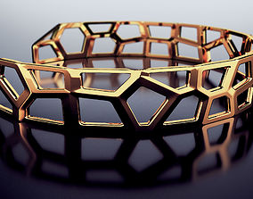 Voronoi bracelet 3dprintmodel 3D printable model