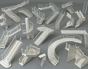 3D model Stairs - Part - 5 - 19 pieces